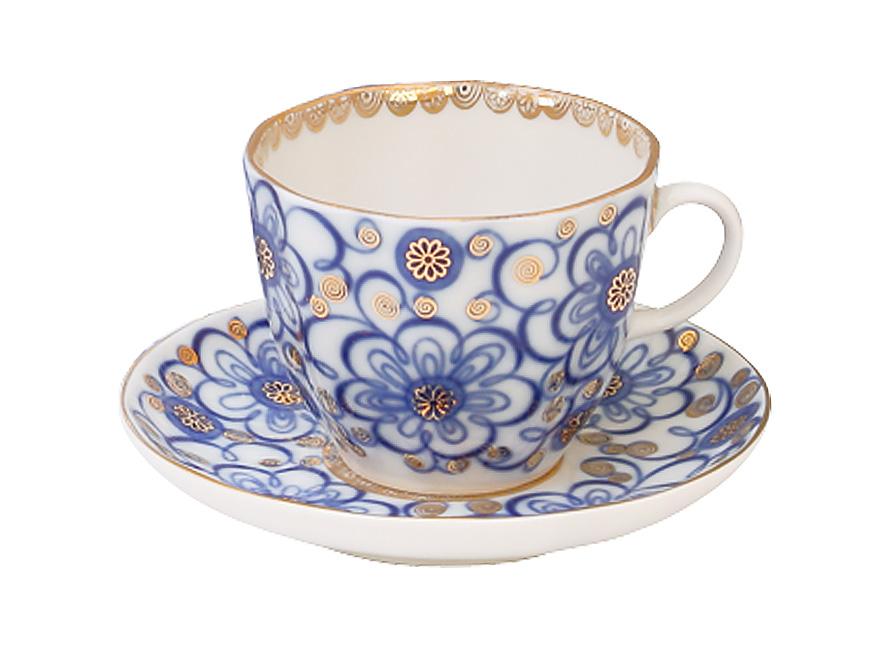 Фото Чашка с блюдцем кофейная 140 мл, форма Тюльпан Вьюнок