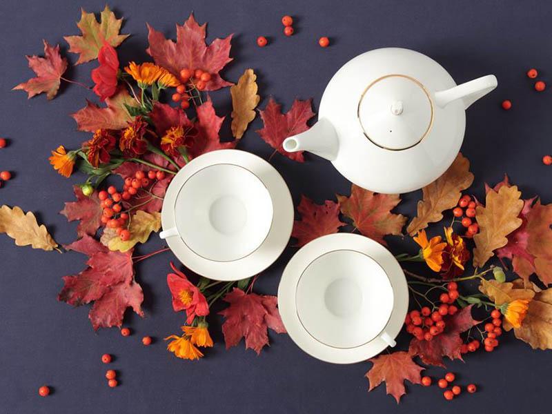 Фото Сервиз чайный Золотая лента, форма Купольная, 14 предметов на 6 персон