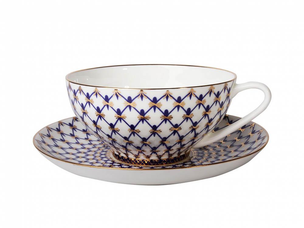 Фото Сервиз чайный Кобальтовая сетка, форма Купольная, 14 предметов на 6 персон