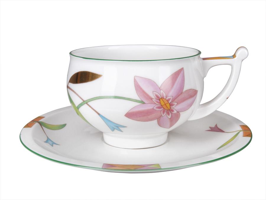 Фото Чашка с блюдцем чайная Лауренсия 300 мл, форма Кострома
