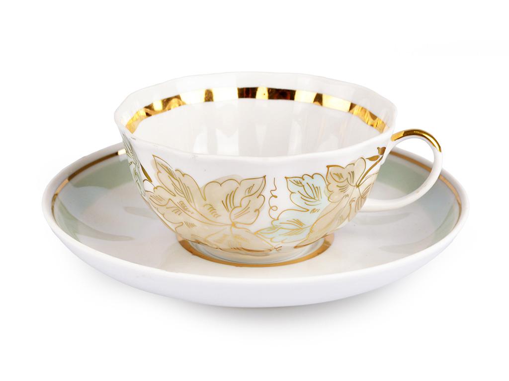 Фото Чашка чайная с блюдцем 200 мл Тюльпан Флора