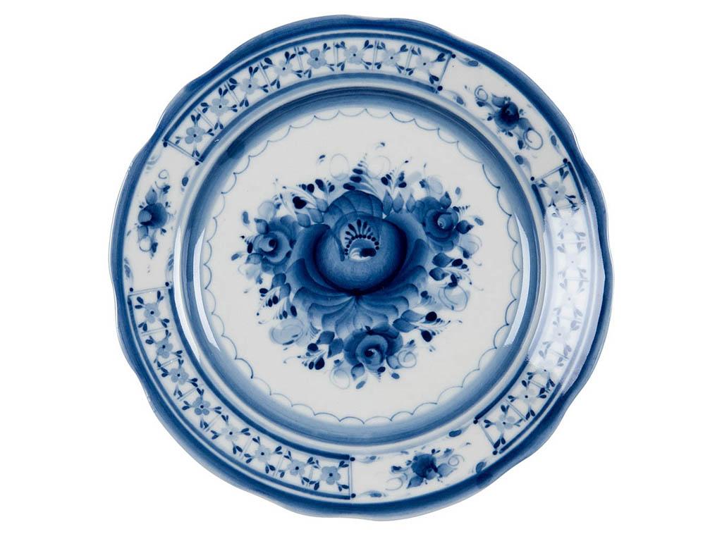 Фото Сервиз чайный Гжель Соната, форма Голубка, 21 предмет на 6 персон