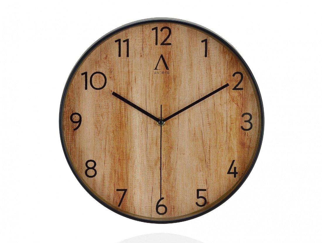 Фото Часы настенные Andrea House эффект дерева Wood