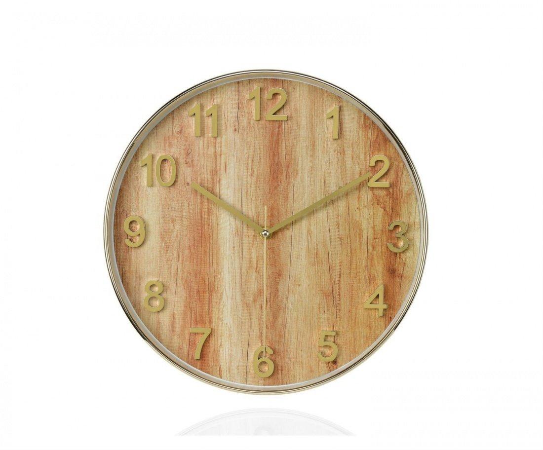 Фото Часы настенные Andrea House Wood and Gold