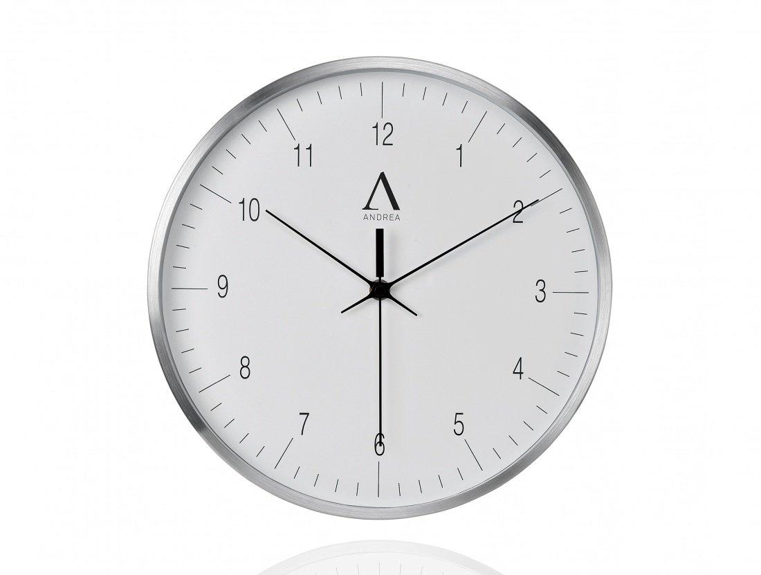Фото Часы настенные Andrea House White Aluminium