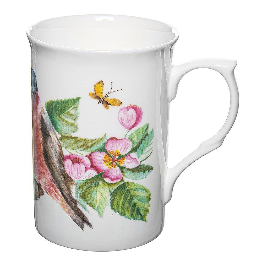 Фото Кружка Птички в цветах шиповника 325 мл