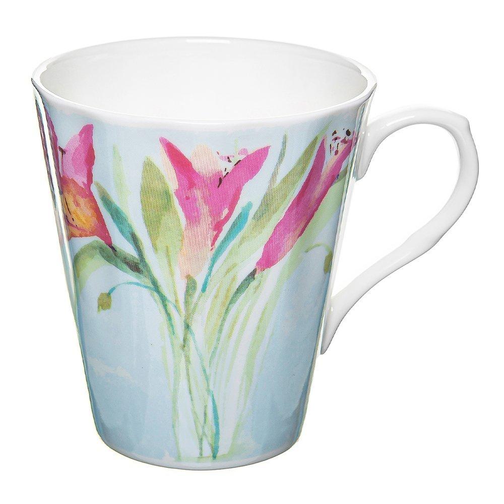 Фото Кружка Розовые тюльпаны 385 мл