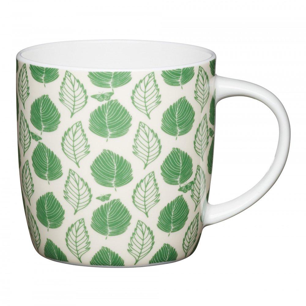 Фото Кружка Kitchen Craft Зеленые листочки 425 мл