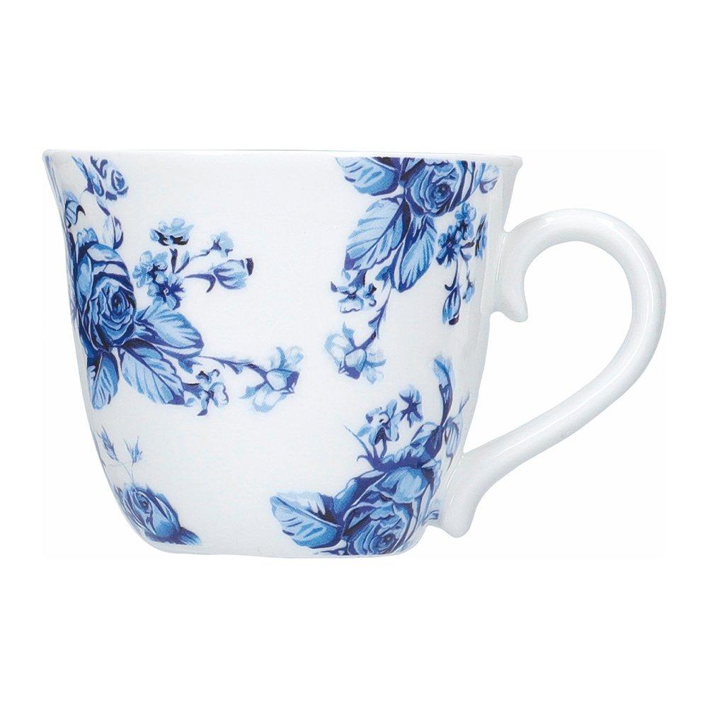 Фото Набор чашек для эспрессо Kitchen Craft Голубые цветы Хэмптон 80 мл - 4 шт