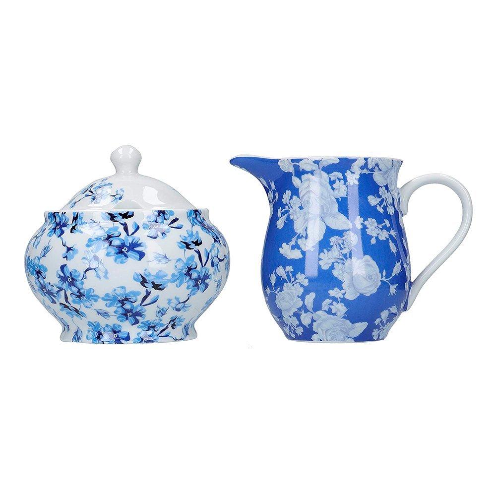 Фото Сахарница и молочник Kitchen Craft Голубые цветы Хэмптон